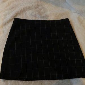 Brandy grid skirt